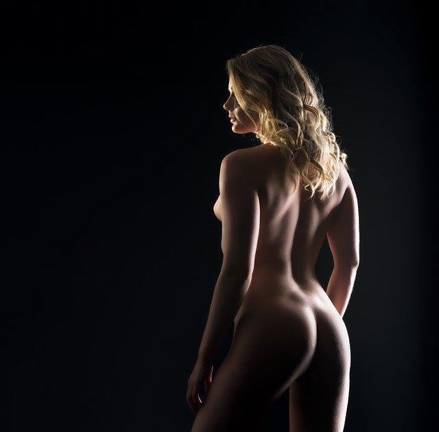 woman posing for a cameraman